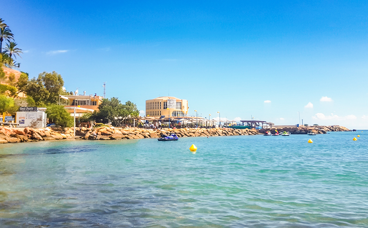 Water sports on Cabo Roig beach