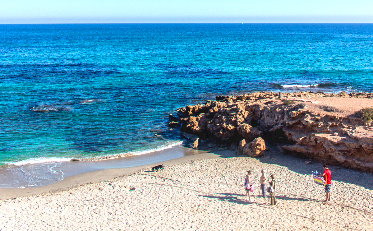 Playa Flamenca dog beach, Orihuela Costa, Costa Blanca